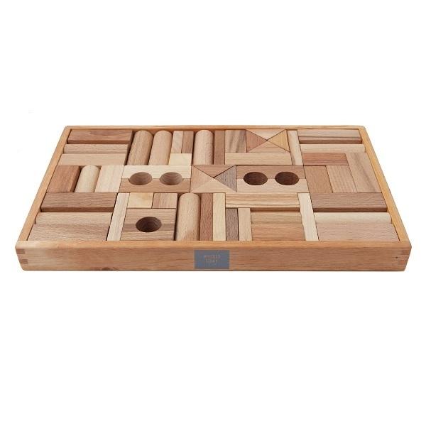 今日の商品紹介!Wooden story ナチュラル・ブロック(54pcs)サムネイル