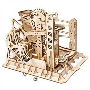 DIY つくるんです! Robotime 3Dウッドパズル コースター手回しマーブルエクスプローラー