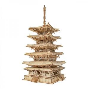 DIY つくるんです! つくろう!3Dウッドパズル 五重塔 TGN02【日本語説明書付き】