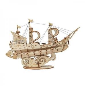 DIY つくるんです! つくろう!3Dウッドパズル 帆船 TG305【日本語説明書付き】