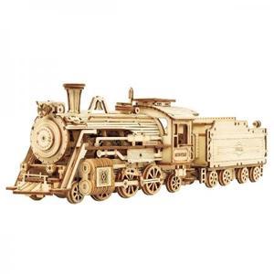DIY つくるんです! つくろう!3Dウッドパズル 貨物蒸気機関車 MC501【日本語説明書付き】