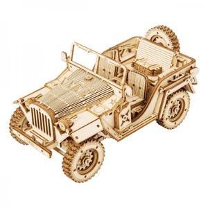 DIY つくるんです! つくろう!3Dウッドパズル オフロードカー MC701【日本語説明書付き】