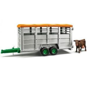 農業 はたらく車 BRUDER 畜産業務用トレーラー(フィギュア付き) 02227