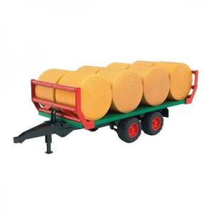 農業 はたらく車 BRUDER わら巻きトレーラー(わら8個付き) 02220