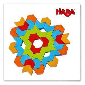 木のおもちゃ 積木 ドイツ 知育HABA モザイク遊び・カレイドブロック HA305048