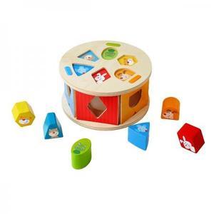 木のおもちゃ ベビー 形合わせ HABA 型はめボックス・かわいい動物 HA305060