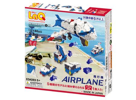 ヨシリツ ブロック 知育玩具 LaQ ラキュー ハマクロンコンストラクター 飛行機 L7230
