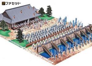 ジオラマペーパークラフト ファセット 戦国の合戦 本能寺の変 B05