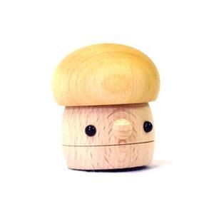 木のおもちゃ 国産 スロープトイ こまむぐ どんぐりきのこ(クリア)