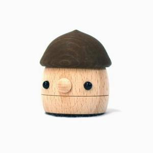 木のおもちゃ 国産 スロープトイ おもちゃのこまーむ どんぐりころころ(ブラウン)