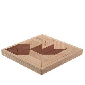 木のおもちゃ 日本製 匹見パズル 木製パズル アボロ