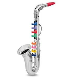 楽器おもちゃ BONPEMPI ボンテンピ シルバーサックスフォン8keys 324331