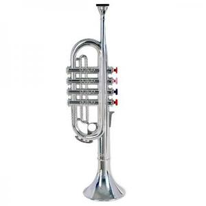 楽器おもちゃ BONPEMPI ボンテンピ シルバートランペット 4keys 37cm 323831