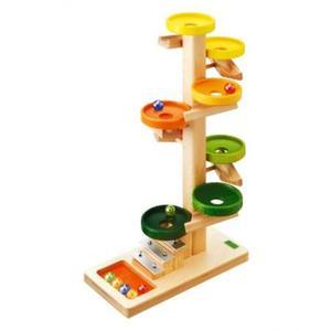 木のおもちゃ 玉転がし BECK べック トレイクーゲルバーン・レインボー BE20030R