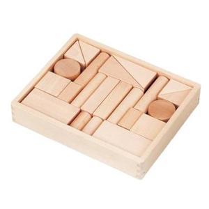 木のおもちゃ 積み木 MOCCOの森 森のブナつみき 1段 (22ピース)W-43