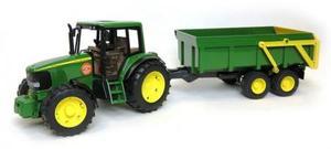 農業 トラクター BRUDER JD6920トラクター&グリーントレーラー 02058