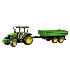 農業 トラクター BRUDER JD5115M トラクター&グリーントレーラー 02108