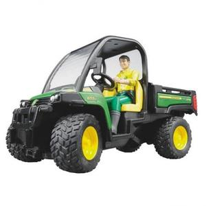 はたらく車 農業 BRUDER JD ゲーターXUV855D & 作業員 02490
