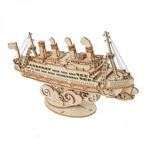 DIY つくるんです! つくろう!3Dウッドパズル クルーズ船 TG306【日本語説明書付き】