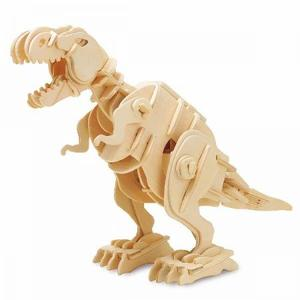 DIY つくるんです! つくろう!3Dウッドパズル 電池で動くティラノサウルス【小】 D210