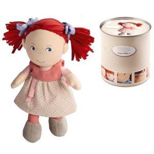 布のおもちゃ 人形 HABA ハバ 缶入りドール 赤毛のミリ HA5737