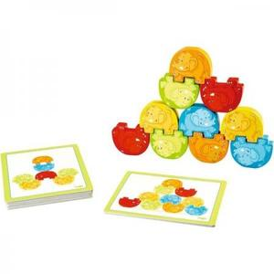 木のおもちゃ 知育玩具 積木 HABA ハバ ぞうさんの組体操 HA300145