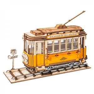 DIY つくるんです! つくろう!3Dウッドパズル トラム TG505【日本語説明書付き】