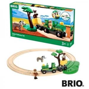 乗り物おもちゃ 木のおもちゃ 木製 レール BRIO ブリオ サファリサークルセット 33720