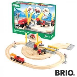 汽車 レール BRIO ブリオ レール&ロードクレーンセット 33208