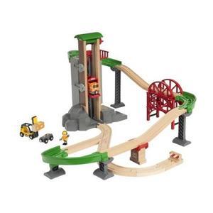 木のおもちゃ 木製 汽車 レール BRIO ウェアハウスレールセット 33887