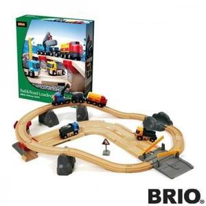 汽車 レール BRIO ブリオ レール&ロード 採石セット 33210