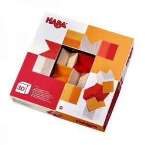 木のおもちゃ 積木 HABA ハバ ブロック 3Dパズル・レッド HA304409