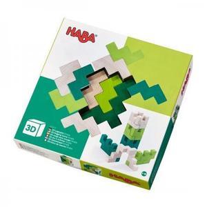 木のおもちゃ 積木 HABA ハバ ブロック 3Dパズル・グリーン HA304410