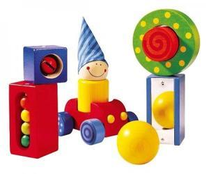 木のおもちゃ 積木 知育玩具 HABA ハバ ベビーブロック バラエティ HA1189