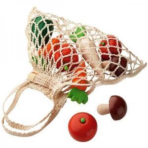 木のおもちゃ おままごとセット HABA ミニショッピングセット・野菜 HA3841