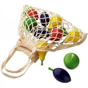木のおもちゃ おままごとセット HABA ミニショッピングセット・くだもの HA3842