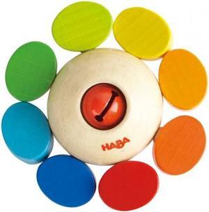 木のおもちゃ ラトル ベビー HABA ラトル・カラーフラワー HA3251