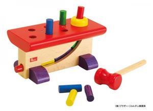 木のおもちゃ 知育玩具 NIC ニック ハンマートイ 大工さん NC64423