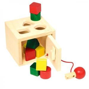 木のおもちゃ 形合わせ NIC ニック キーボックス NC64558
