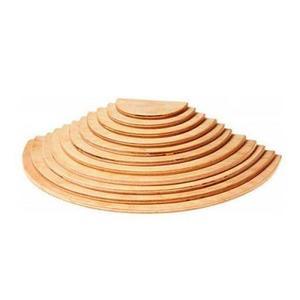 木のおもちゃ 積み木 GRIMM'S グリムス 半円盤・ナチュラル GM10676