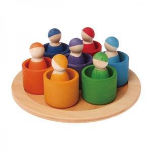木のおもちゃ 積み木 GRIMM'S グリムス カラフルフレンズ GM10580