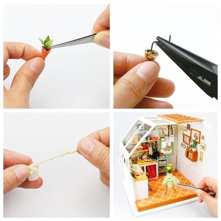 DIY つくるんです! ミニチュアハウスキット キッチン DG105【日本語説明書付き】
