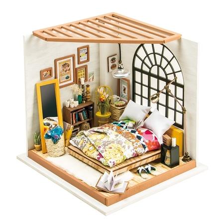 DIY つくるんです! ミニチュアハウスキット ベッドルーム DG107【日本語説明書付き】