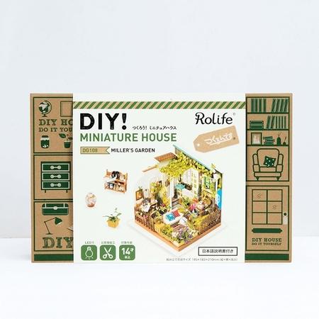 DIY つくるんです! ミニチュアハウスキット ガーデン DG108【日本語説明書付き】