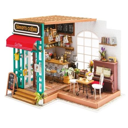 DIY つくるんです! ミニチュアハウスキット コーヒー DG109【日本語説明書付き】