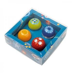 木のおもちゃ 玉ころがし 積み木 HABA ハバ ディスカバリーボール・4個セット HA3571