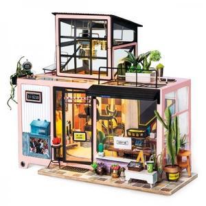 DIY つくるんです! ちょっと大きめサイズのミニチュアハウスキット スタジオ DG13【日本語説明