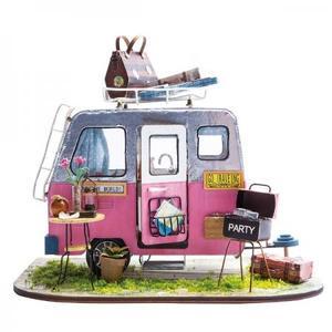 DIY つくるんです! ちょっと小ぶりなミニチュアハウスキット キャンプ DGM04【日本語説明書付