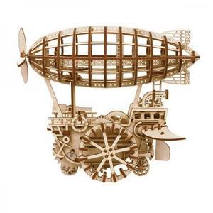DIY つくるんです! Robotime 3Dウッドパズル 飛行船 LK702 【日本語説明書付き】