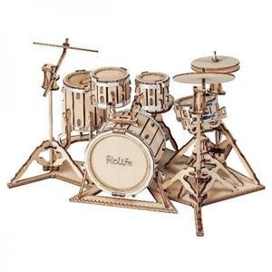 DIY つくるんです! 3Dウッドパズル 楽器シリーズ ドラム TG409【日本語説明書付き】